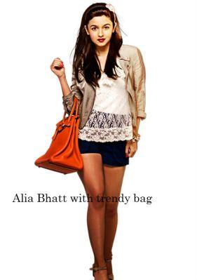 Alia Bhatt with trendy bag